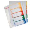 ESSELTE Regiszter -100212- A4 maxi 1-6 nyomtatható ESSELTE<20cs/dob> regiszter és tartozékai