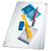 ESSELTE Lefűzhető tasak -411200- A4/200mic ZIP ESSELTE <5db/csom>