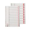 ESSELTE Regiszter -100125- műanyag 1-12 A4 MAXI  ESSELTE <10csom/dob>