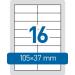 HERMA Etikett A4 105 x 37mm -8712- TOPSTICK HERMA <100lap/dob>