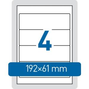 HERMA Etikett A4 192x61mm iratrendezőhöz -4284- SUPERPRINT HERMA <100l