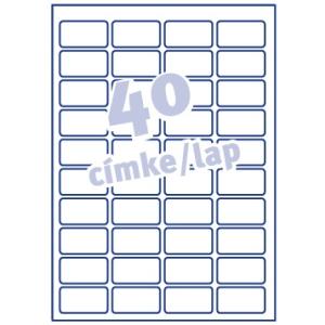Avery Etikett -L6140-20- 45,7x25,4mm AVERY <20lap/ob>