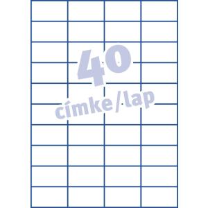 Avery Etikett -3651- 52,5x29,7mm FEHÉR AVERY <100lap/dob>