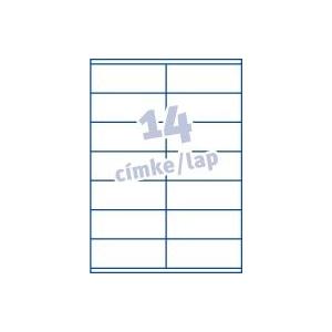 Avery Etikett -3477- 105x41mm FEHÉR  AVERY <100lap/dob>