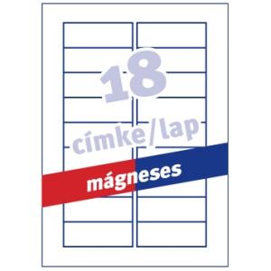 Avery Etikett  -J8871-5- 78x28mm mágneses AVERY <5lap/dob>