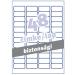 Avery Etikett -L6113-20- 45,7x21,2mm biztonsági AVERY