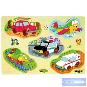 Woodyland Közlekedési járművek fapuzzle