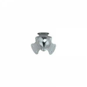 Golyós sarokvédő, két szárú, horganyozott acél 2 mm, 4db
