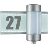Conrad Kültéri fali lámpa mozgásérzékelővel és házszámmal, érzékelős lámpa, alumínium, G9, halogén fényforrás, Steinel 647810