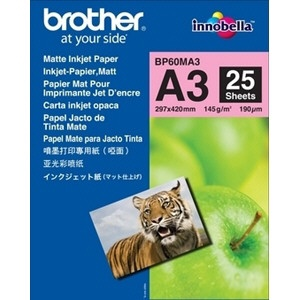 Brother BP-60MA3 MATTE INKJET PAPER DINA3 145G/M2 25SHTS (BP60MA3)
