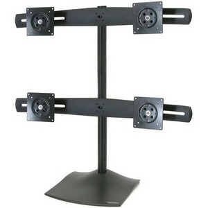 Ergotron DS100 SERIE QUAD LCD STAND BLACK MAX 24IN CROSSBAR 4CLAMP (33-324-200)