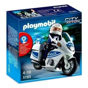Playmobil Rendőrségi motor villogó fénnyel - 5185