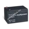 Multipower Ólom akku 12V 12Ah (Multipower) típus MP12-12C ciklusálló