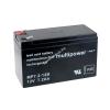 Multipower Ólom akku (Multipower) típus MP7,2-12B - VDS-minősítéssel (csatlakozó: F2)