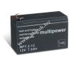Multipower Riasztó-akku (Multipower) MP7,2-12 - VDS-minősítéssel (csatlakozó: F1) szerszámgép akkumulátor