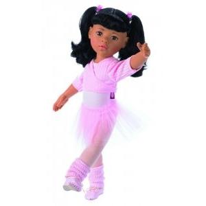 Götz Balettos Hannah, ázsiai GÖTZ baba, barna szemű, fekete hajú, 50 cm magas