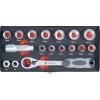 Conrad Racsnis dugókulcs készlet, krova készlet 17 részes Toolcraft