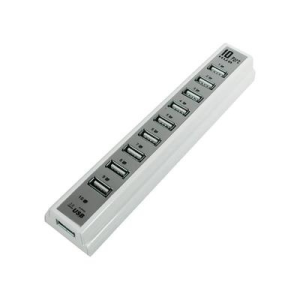 Conrad 10 portos USB 2.0 Hub tápegységgel, fehér, LogiLink UA0095