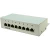 Conrad 8 portos CAT5e patch panel RAL7035, LogiLink NP0038