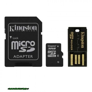 Kingston 32GB micro SDHC CL4 Mobility Kit (adapter+olvasó)