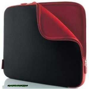 "Belkin NOTEBOOK SLEEVE NEOPRENE 17"" COAL BLACK/RED"