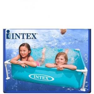 Intex Fémvázas medence 122x122x30 cm