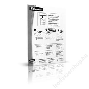 FELLOWES Hordozó- és tisztítókarton lamináláshoz, A4, FELLOWES (IFW53206)
