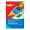 APLI Etikett, 105x37 mm, színes, APLI, zöld, 320 etikett/csomag (LCA1598)