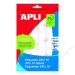 APLI Etikett, 25 mm kör, kézzel írható, APLI, 240 etikett/csomag (LCA1629)