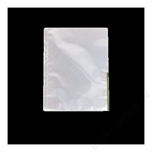 ESSELTE Genotherm, lefűzhető, felül/oldalt félig nyitott, A4, 105 mikron, víztiszta, ESSELTE,zöld
