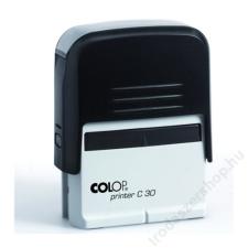 COLOP Bélyegző, COLOP Printer C 30, kék cserepárnával (IC1373060) bélyegző