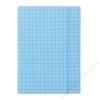 DONAU Gumis mappa, karton, A4, kockás, DONAU, kék (DFEP101)