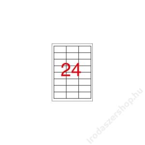 APLI Etikett, 70x37 mm, színes, APLI, sárga, 2400 etikett/csomag (LCA11834)