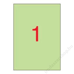 APLI Etikett, 210x297 mm, színes, APLI, pasztell zöld, 20 etikett/csomag (LCA11847)