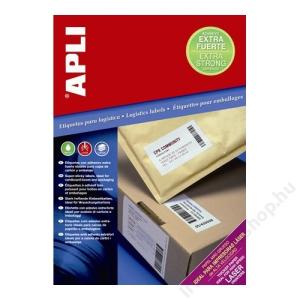APLI Etikett, univerzális, 210x148 mm, extra erős, APLI Super Sticky, 200 etikett/csomag (LCA11786)