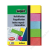 SIGEL Jelölőcímke, papír, 5x40 lap, 12x50 mm, SIGEL Brillant, vegyes szín (SIHN625)