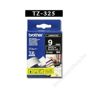 Brother Feliratozógép szalag, 9 mm x 8 m, BROTHER, fekete-fehér (QPTTZ325)