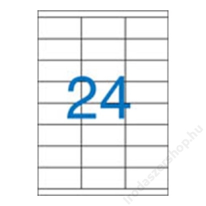 VICTORIA Etikett, univerzális, 70x35 mm, VICTORIA, 2400 etikett/csomag (LCV11368)