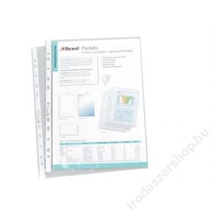 REXEL Genotherm, lefűzhető, A4, 50 mikron, víztiszta, REXEL (IDGLV)