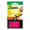 SIGEL Jelölőcímke, műanyag, Z, 50 lap, 25x45 mm, SIGEL, rózsaszín (SIHN480)
