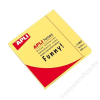 APLI Öntapadó jegyzettömb, 75x75 mm, 100 lap, APLI, neon sárga (LNP11897)