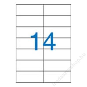 VICTORIA Etikett, univerzális, 105x42,4 mm, VICTORIA, 1400 etikett/csomag (LCV11372)