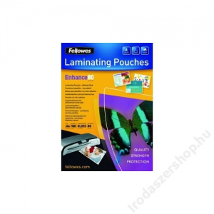FELLOWES A4 fényes lamináló fólia, 80 mikron IFW53962