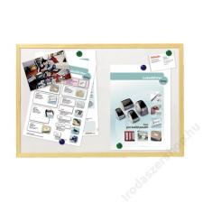 ESSELTE Fehér tábla, mágneses, 40x60 cm, fa keret, ESSELTE mágnestábla