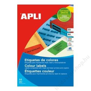 APLI Etikett, 105x37 mm, színes, APLI, piros, 320 etikett/csomag (LCA1597)