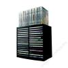 FELLOWES CD-tároló, automata kiemelőrendszerű, 30+18 db-os, FELLOWES Spring, fekete (IFW98231)