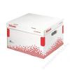 ESSELTE Archiváló konténer, M méret, újrahasznosított karton, ESSELTE Speedbox, fehér (E623912)