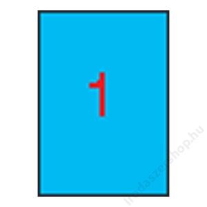 APLI Etikett, 210x297 mm, színes, APLI, kék, 100 etikett/csomag (LCA11839)