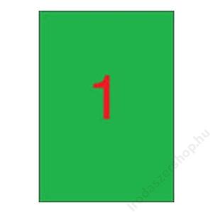 APLI Etikett, 210x297 mm, színes, APLI, zöld, 100 etikett/csomag (LCA11841)