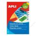 APLI Etikett, 70x37 mm, színes, APLI, kék, 480 etikett/csomag (LCA1592)